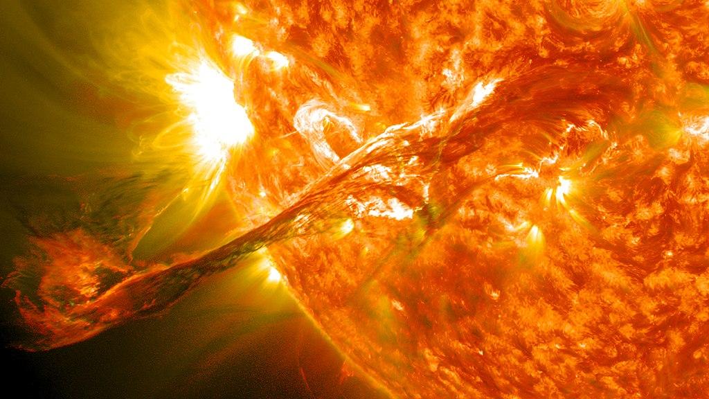 Filamentos en la atmosfera del Sol