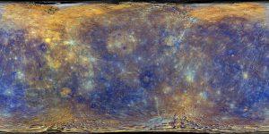 Mapa de mercurio en color mejorado