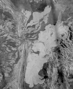 Sistema de flujos de lava y cinturón de crestas