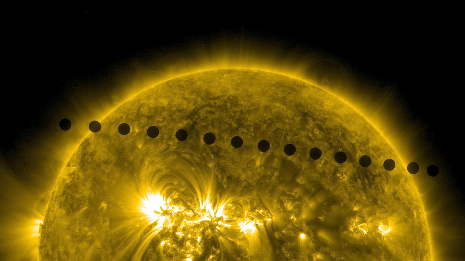Tránsito de Venus a traves del Sol