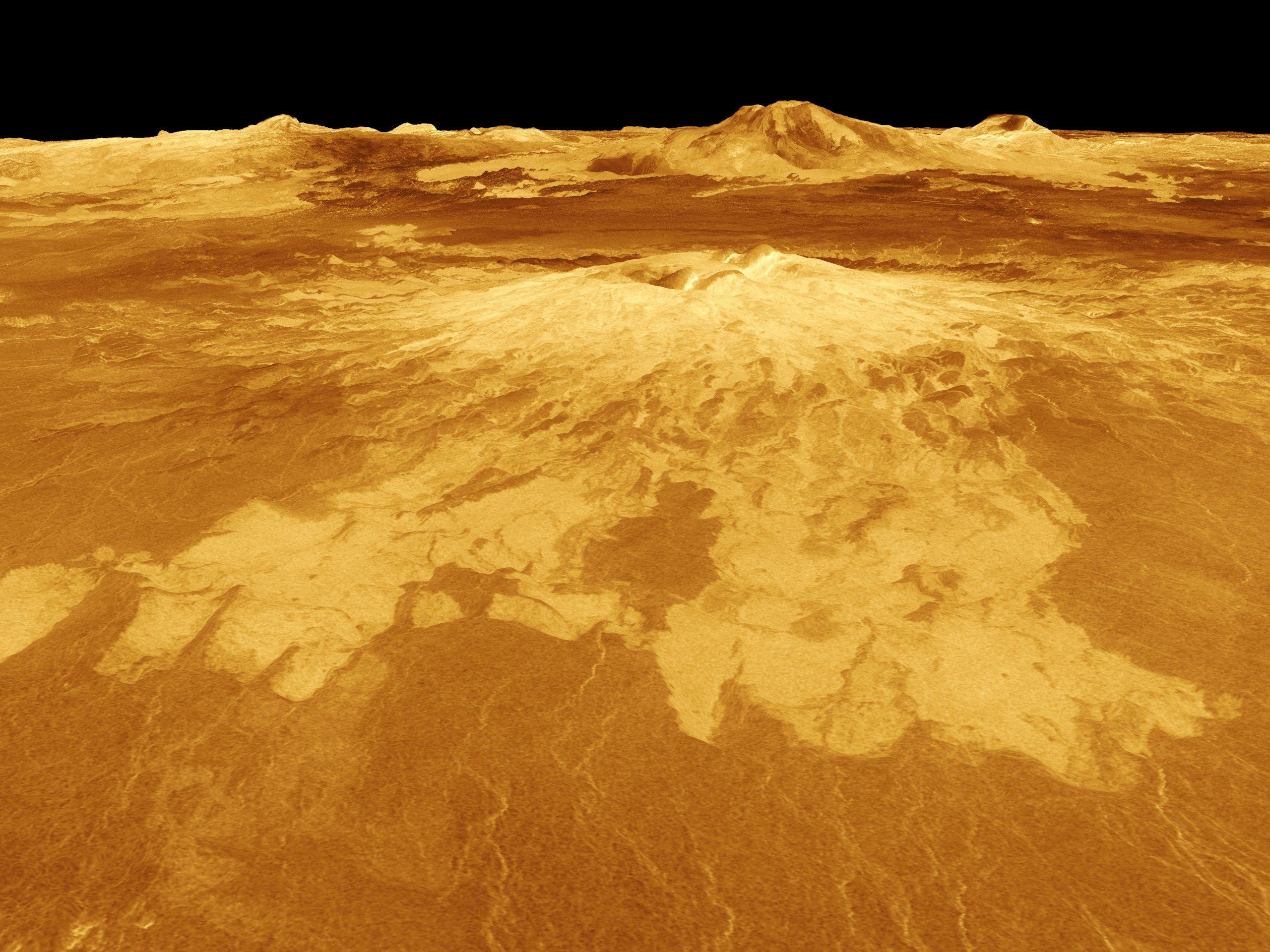 Vista en perspectiva de Venus